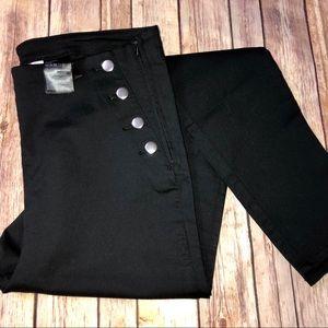 Divided Black High Top Pants, Sz. 16